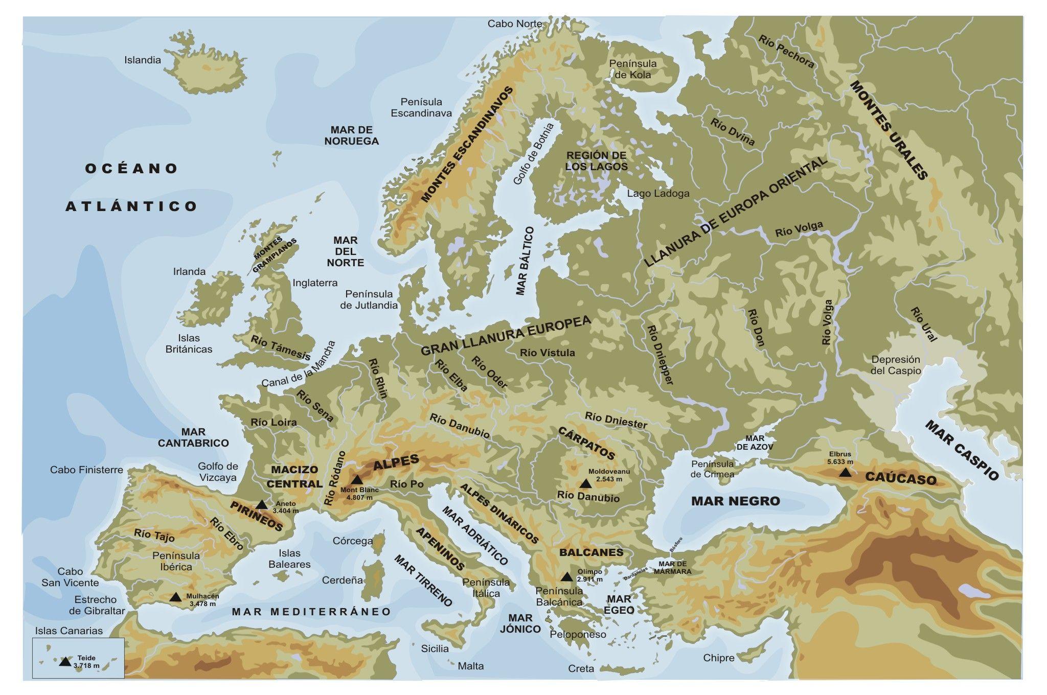 Mapa hidrográfico