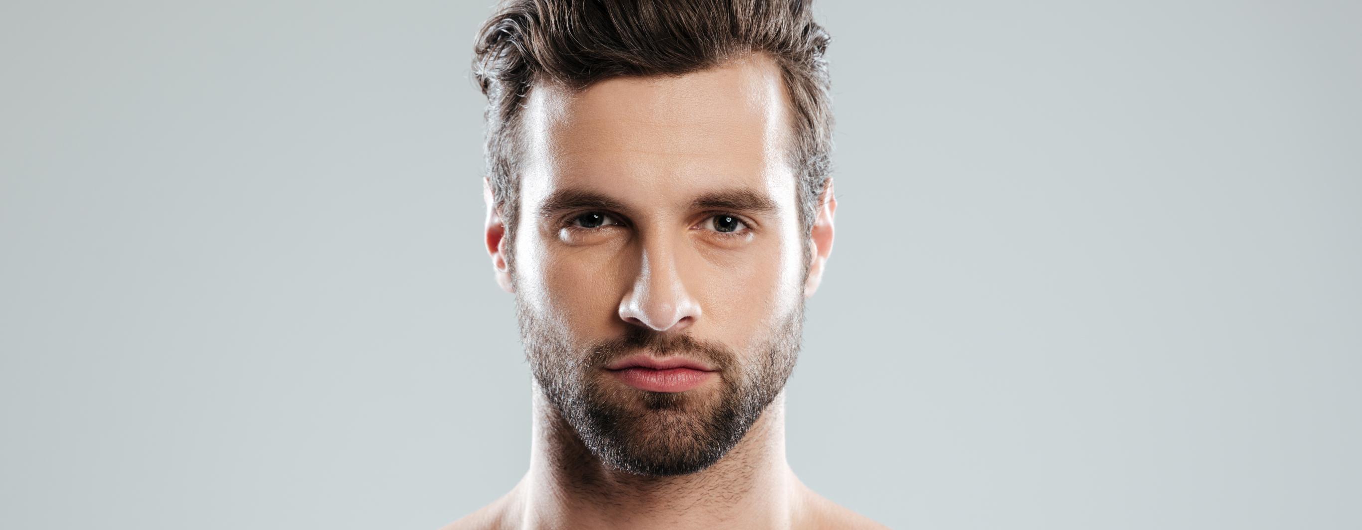 Barba corta cuadrada