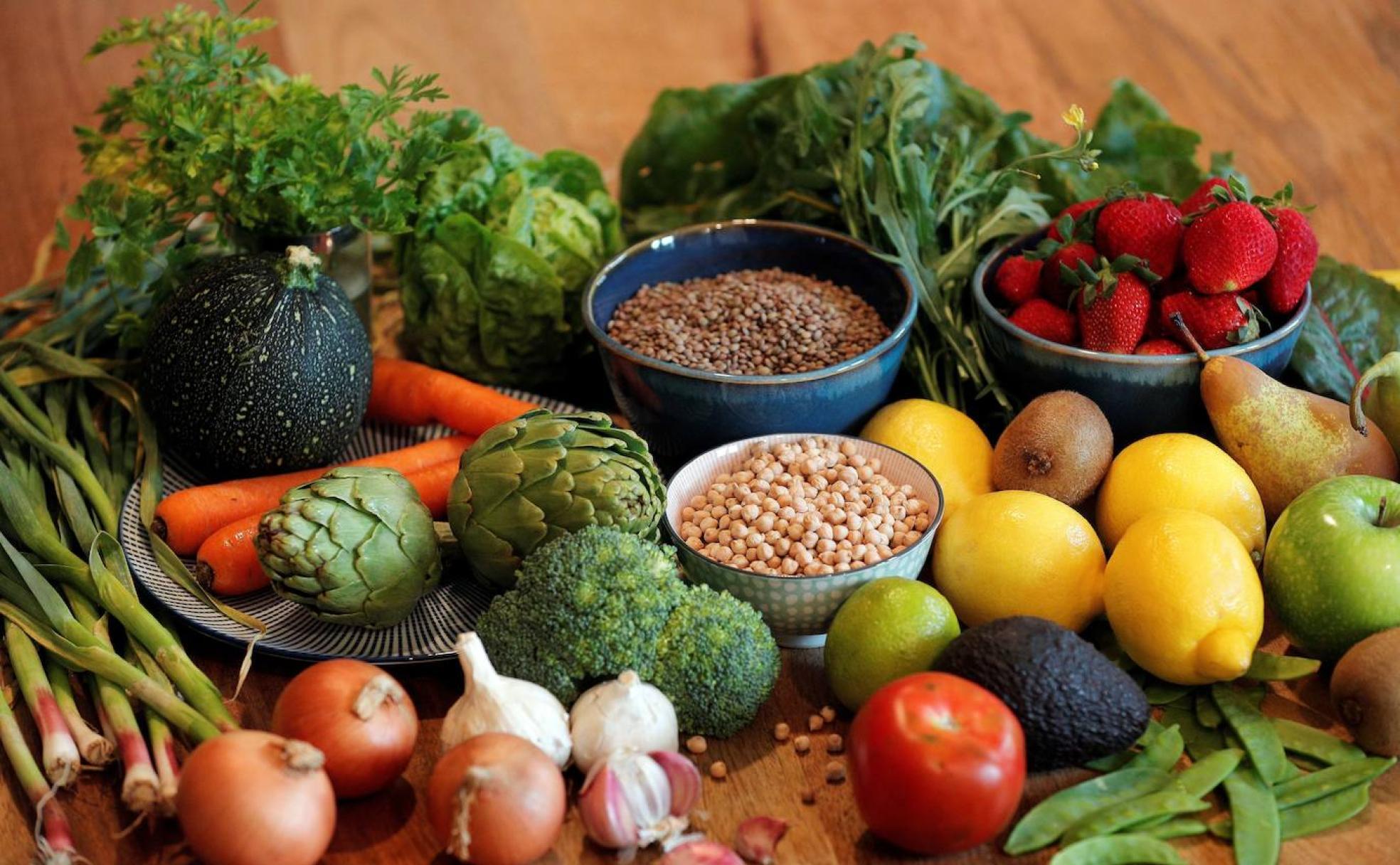 Dieta mediterránea verduras