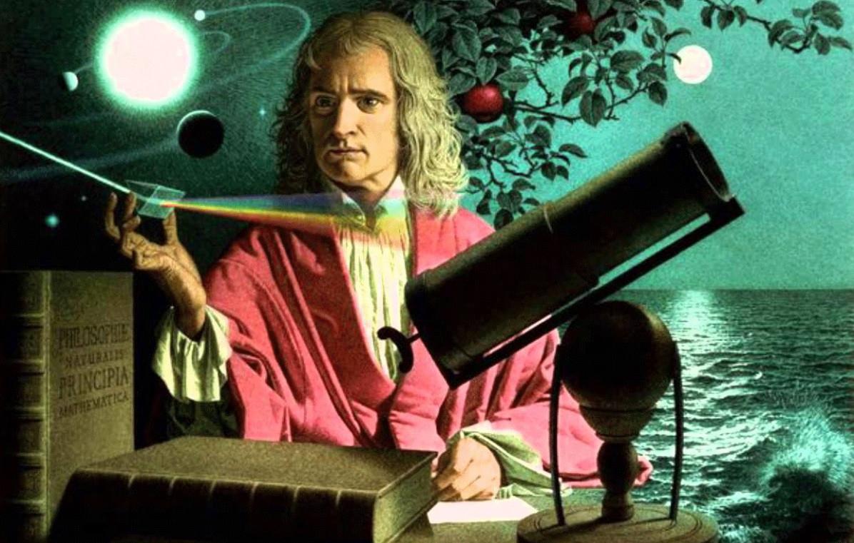 Isaac Newton luz