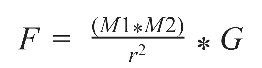 Formula gravitatoria