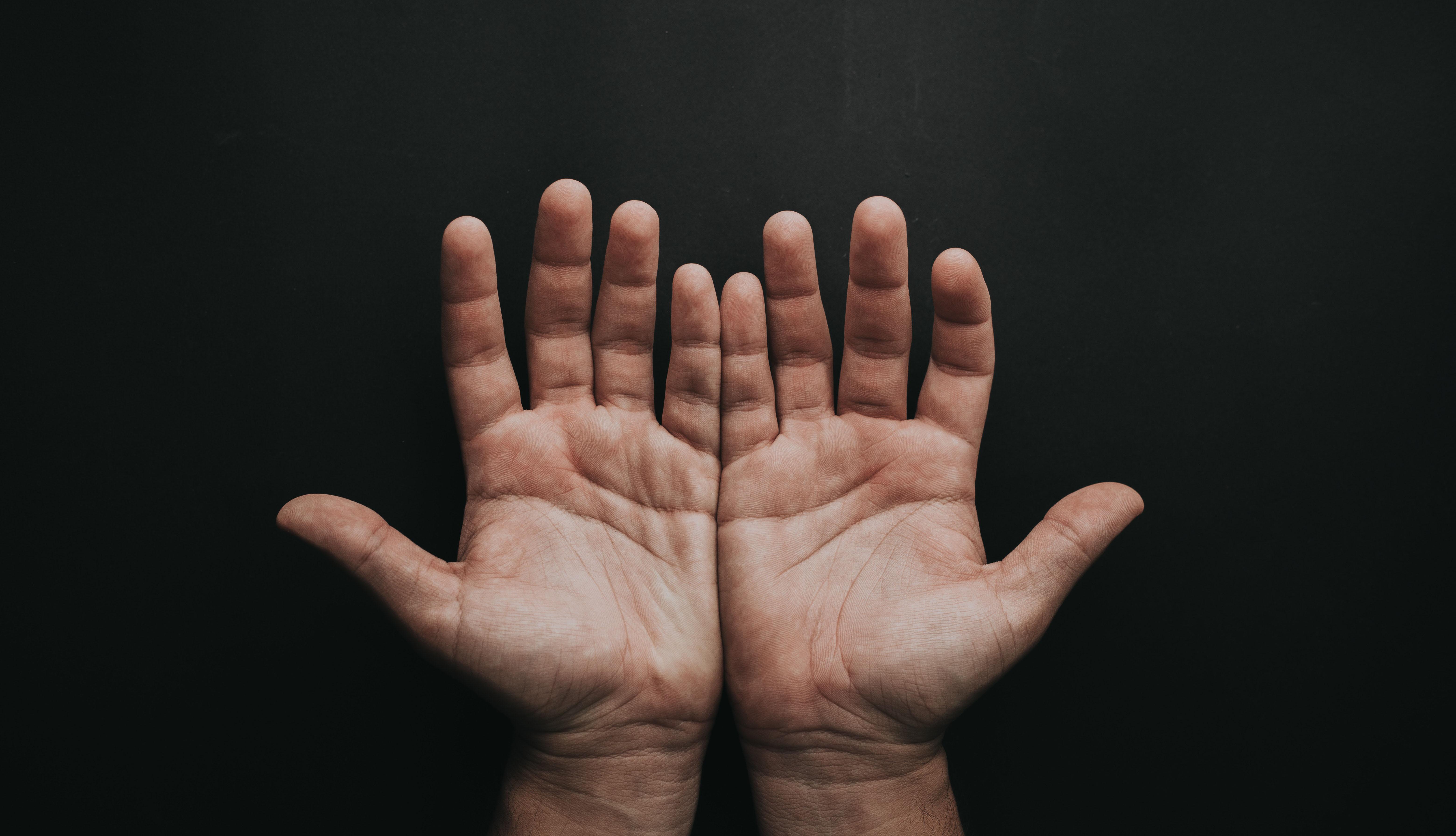 Nombres de los dedos de los pies y las manos